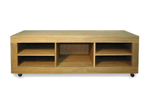 Table basse a roulettes - Table basse en pin pas cher ...