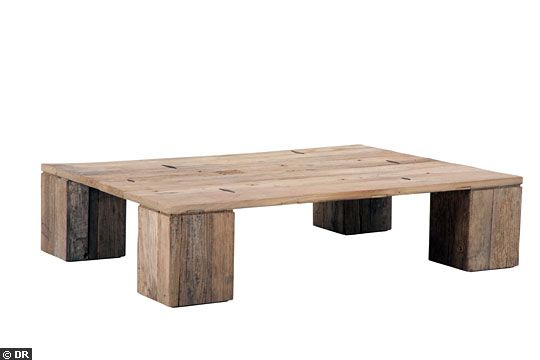 Table basse for Table salon bois brut